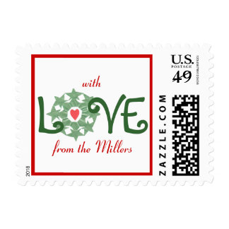 Karate Kat holiday love--to personalize Postage