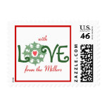 Karate Kat holiday love--to personalize Postage Stamp