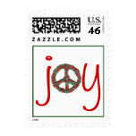 Karate Kat holiday peace-and-joy Postage