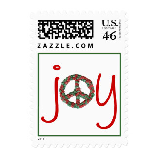 Karate Kat holiday peace-and-joy Postage