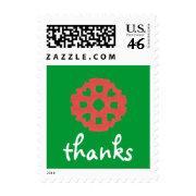 Karate Kat holiday thanks stamp