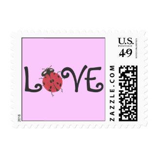 "Karate Kat ladybug ""love"" stamp"