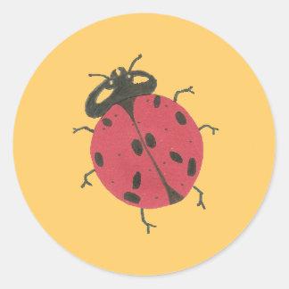 Karate Kat ladybug Classic Round Sticker