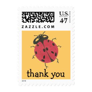 Karate Kat ladybug thank-you Postage Stamp