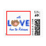 "Karate Kat ""love of the game"" Postage Stamp"