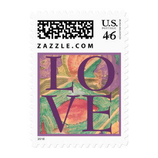 Karate Kat love Postage Stamps