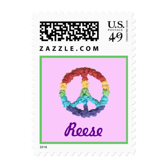 Karate Kat pastel peace--to personalize Postage
