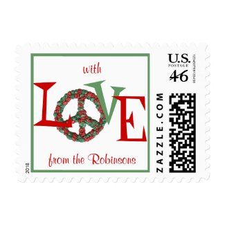 Karate Kat peace-and-love holiday stamp