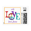 Karate Kat peace-and-love--to personalize stamp