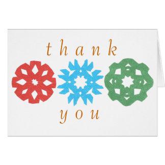 Karate Kat snowflake trio thank-you Card