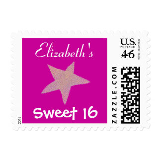Karate Kat Sweet 16 personalized Postage Stamps