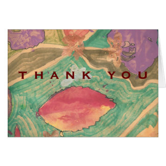 Karate Kat thank-you Stationery Note Card