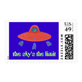 Karate Kat UFO stamp