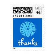 Karate Kat winter thanks stamp