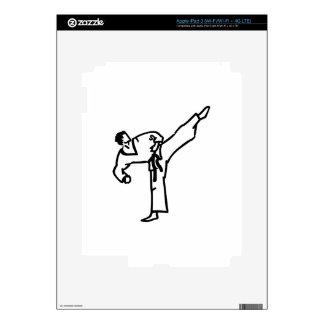 Karate Kick Decals For iPad 3