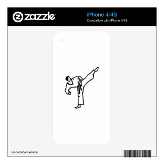Karate Kick iPhone 4S Skins