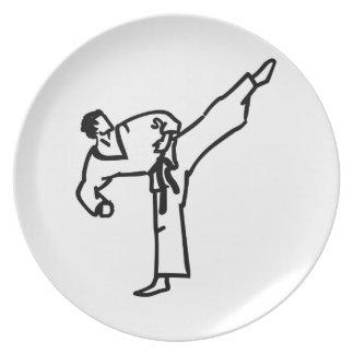 Karate Kick Melamine Plate