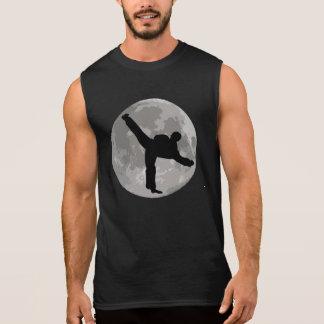 Karate Kick Moon Sleeveless T-shirts