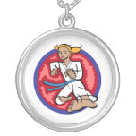 Karate Kick Personalized Necklace