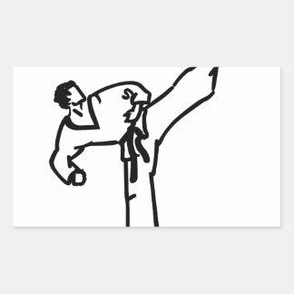 Karate Kick Rectangular Sticker