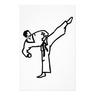 Karate Kick Stationery