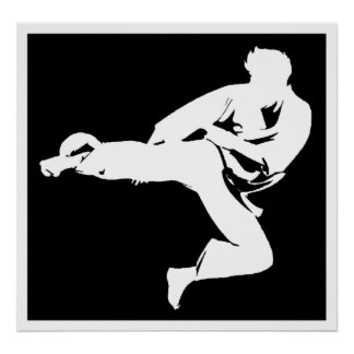 Karate Kicker Poster