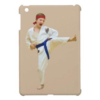 Karate Kicking Blue Belt iPad Mini Cases