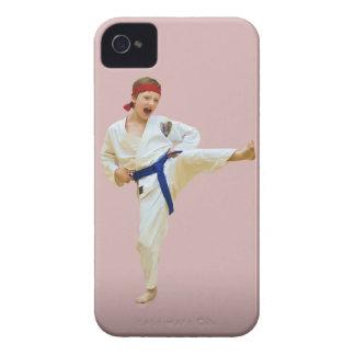 Karate Kicking, Blue Belt, iPhone 4 Case