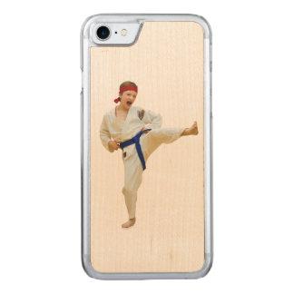 Karate Kicking, Blue Belt,  Martial Arts Carved iPhone 7 Case
