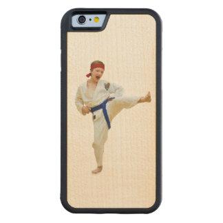 Karate Kicking, Blue Belt,  Martial Arts Carved Maple iPhone 6 Bumper Case