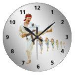 Karate Kicking Brown Belt Customizable Wall Clock