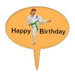 Karate Kicking Cake Topper, Customizable Cake Toppers