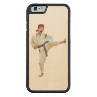 Karate Kicking, Martial Arts Customizable Carved Maple iPhone 6 Bumper Case