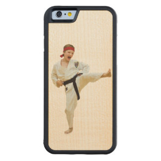 Karate Kicking, Martial Arts Customizable Carved® Maple iPhone 6 Bumper Case