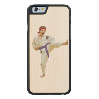 Karate Kicking, Martial Arts Customizable Carved Maple iPhone 6 Case