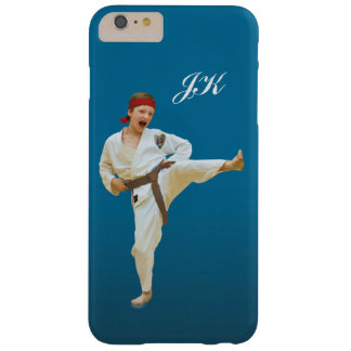 Karate Kicking, Martial Arts Customizable Monogram Barely There iPhone 6 Plus Case