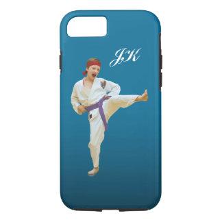 Karate Kicking, Martial Arts Customizable Monogram iPhone 7 Case