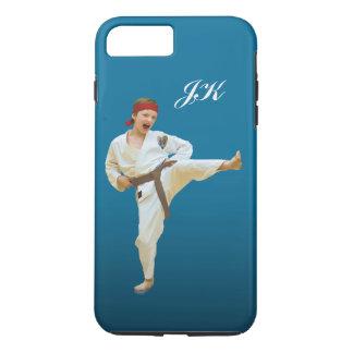 Karate Kicking, Martial Arts Customizable Monogram iPhone 7 Plus Case