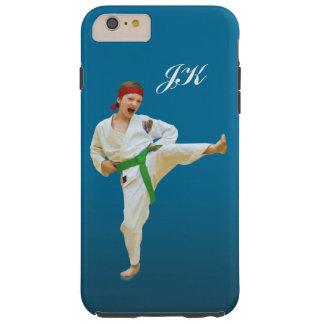 Karate Kicking, Martial Arts Customizable Monogram Tough iPhone 6 Plus Case