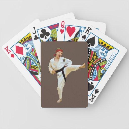 Karate Kicking Playing Cards, Customizable Playing Cards