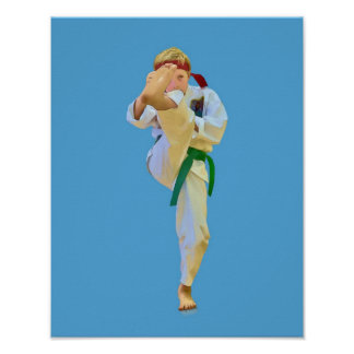 Karate Kicking Print