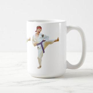 Karate Kicking, Purple Belt, Customizable, Mug