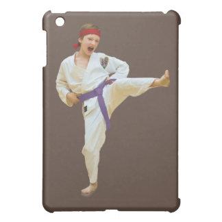 Karate Kicking Purple Belt iPad Mini Covers