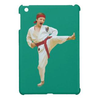 Karate Kicking Red Belt iPad Mini Cases