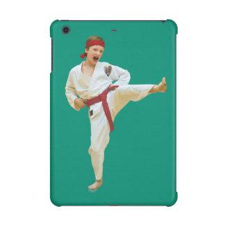 Karate Kicking Red Belt iPad Mini Retina Cases
