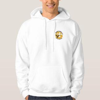 karate kicks gold hoodie