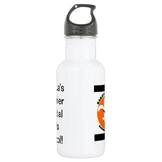 karate kicks water bottle