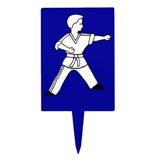 Karate Kid 11 blue cake topper Martial Arts