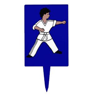 Karate Kid 3 Blue Cake Cupcake Topper Martial Arts