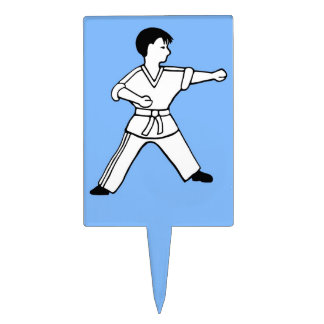 Karate Kid 5 artes marciales del primero azul clar Decoraciones Para Tartas